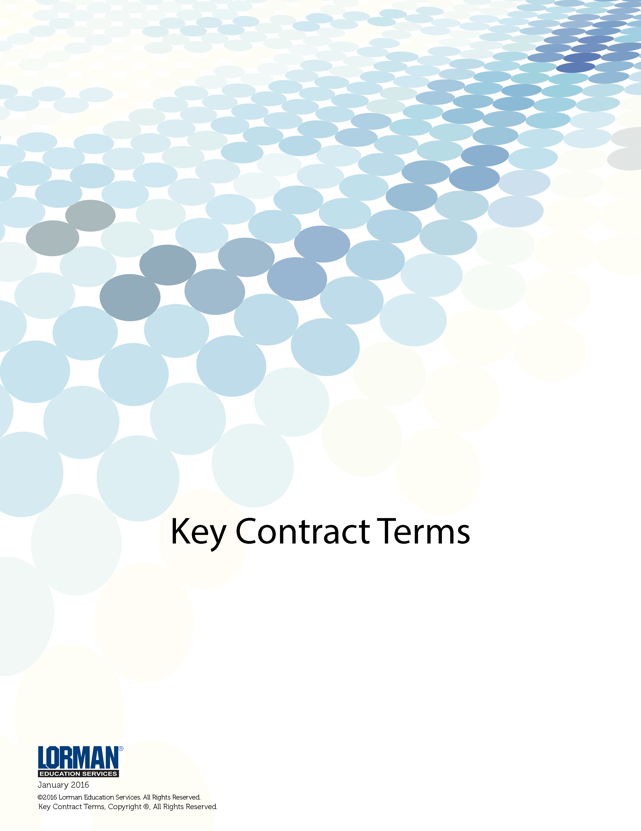 Key Construction Contract Terms